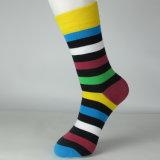 Высокое качество пользовательских красочные силы хлопок платье носки для бизнеса