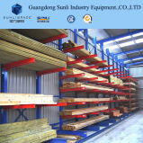 SGS/ISO het dubbele Onder ogen gezien Industriële Rek van de Cantilever van het Timmerhout van de Opslag