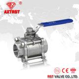 316 3PC Roestvrij staal Ingepaste Kogelklep (Q11F)