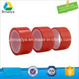 150 micras de poliéster de color rojo a doble cara cinta adhesiva (por6967R)