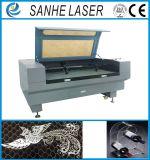 Machine de découpage de machine de gravure de graveur de laser de CO2 de fibre pour le plastique en cuir