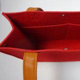 شباب تصميم صنع وفقا لطلب الزّبون صوف لباد محفظة حقيبة, حارّ ترقية [هند بغ] مع مقبض