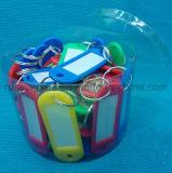 Étiquette en plastique d'identification, étiquette nommée de coup. Indicateur de clé en plastique