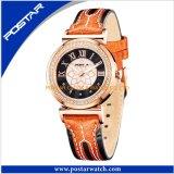 Reloj moderno del acero inoxidable de la muchacha de la manera famosa
