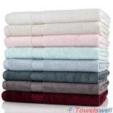 灰色の贅沢100%のタケの浴室タオル
