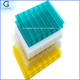 2.3 * 2.5m / 1.5 * 2.3m Anti-Static Plain Stripe Imprimé en polycarbonate blanc Sun Hollow Sheet