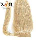 O Blonde colore extensões peruanas do Ponytail do cabelo do Virgin