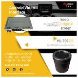 Android 7.1 de Carplay para o uso video de Interfaceo do sistema do Benz Ntg5/Ntg5.1 o carro original grande, ecrã pequeno