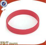 Bracelet en caoutchouc de claque d'allergie de main de Wristband réglable bon marché de silicium
