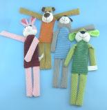 No relleno peluche de juguete de animales de peluche 4 Asst con traqueteo