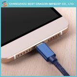 Синий прочного экранирующая оплетка зарядка через USB Тип данных C кабель для iPhone Samsung