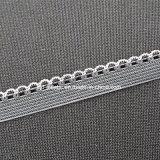 stringa elastica del Knit del doppio di colore del filato di 10mm bordo Pre-Dyed dello smerlo