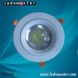 ÉPI enfoncé par 15W-100W élevé ci-dessus DEL Downlight du lumen IP54 de C.P. 80
