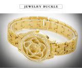 Belbi 꽃 형식 다이아몬드 손목 시계 여자를 위한 특별한 다이얼 디자인은 금, &#160를 방수 처리한다; 은 중국제 유명 상표