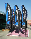 Custom Print Publicidade ao ar livre Display Teardrop / Vetical / Feather / Swooper / Beach Sports Event Pole Flag