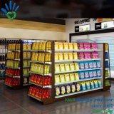 두 배는 또는 편들어진 곤돌라 편리한 상점 슈퍼마켓 선반을 골라낸다