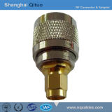 Adaptador de ficha RF UHF (SL16) Bujão Macho para Macho SMA