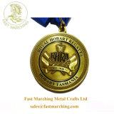 カスタム金の円形浮彫りのライオンの形はスポーツのためのメダルを与える