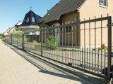 Puerta de desplazamiento del hierro labrado/puerta del metal/puerta de acero/puerta antirrobo del hierro/puerta automática