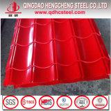Hoja de acero acanalada del material para techos del color de Ral