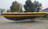 Der steife aufblasbare Fischerboot China-Aqualand 19feet 5.8m /Coach-Boot/der Rippen-Patrouille/Rettung/des Militärs/des Tauchens (RIB580T)