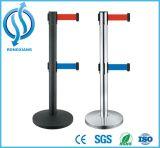 Poste escamotable de corde de barrière de file d'attente de sûreté de circulation de poste de contrôle de foule