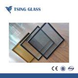 6+12UN+6mm de couleur claire Low-E en verre feuilleté trempé isolés