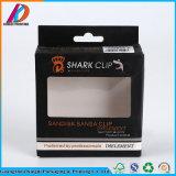 Cadre de empaquetage de papier d'art noir de Guangzhou C1s avec le guichet