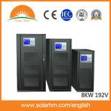 De 8 kw 192 V três entrada de baixa frequência de saída UPS on-line de três fases