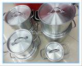 アルミニウム炊事道具の圧力鍋の形成深いデッサン型