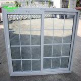 Воздействие UPVC скользящего окна с двойным стеклом гриль дизайн