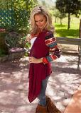 Qualität strickte lang Strickjacke-Frauen gedruckte Wolljacke