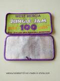 Libro blanco de acompañamiento y Merrowed parches de tejido de color púrpura