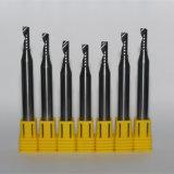 Sola herramienta de corte de doble filo del carburo de tungsteno de la flauta para la madera