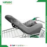 Supermarché Caddie de zinc en acier avec siège de Bébé doux