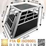 Compartimento de cães de transporte de alumínio dobrável