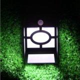 LED 10 alimentada a energia solar do Sensor de movimento sem fio de luz branca de etapa do caminho de escadas de piso jardim paisagístico Pátio de parede luminária moderna da Lâmpada