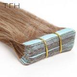 """Tfh Double bande Extensions de cheveux 20pcs marron n° 8 de la trame de la peau des cheveux humains Machine faite Remy cheveux raides 14"""" 16"""" 18"""" 20"""" 22"""" 24 """" cheveux transparente adhésive"""