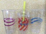 Duidelijke Plastic het Drinken Kop met het Deksel van de Koepel