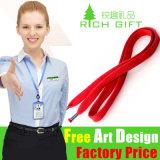 OEM는 로고 Pantone 판매를 위한 색깔에 의하여 일치된 호각 방아끈을 주문을 받아서 만들었다