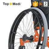 Manual de aluminio silla de ruedas del deporte del baloncesto para discapacitados en el exterior