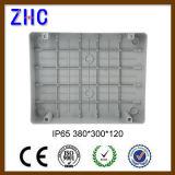 A caixa impermeável plástica IP65 da manufatura 380*300*120 de China Waterproof a caixa plástica articulada do cerco da caixa de junção