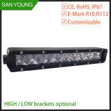 Os veículos 4X4 barras de luz LED rígida 12V 24V para caminhões Offroad em andamento