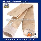 Chaussette de filtre de dépoussiérage de l'usine 550GSM Aramid de noir de charbon