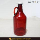 陶磁器のふたが付いている卸し売りガラスビールグローラー