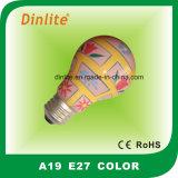 Ampoule incandescente colorée de métier