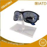 Expositions de marchandises acryliques de lunetterie de lunettes de soleil de partie supérieure du comptoir de guichet