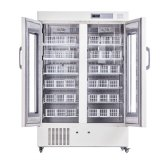 Médicos clínicos de alta calidad utilizados en posición vertical refrigerador del banco de sangre (BBR110)
