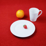 Cerâmica Branca Dinnerset Conjunto jantar em relevo