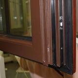 고품질 다채로운 열 틈 격자 K03045를 가진 다중 자물쇠 두 배 유리를 가진 알루미늄 목제 여닫이 창 Windows